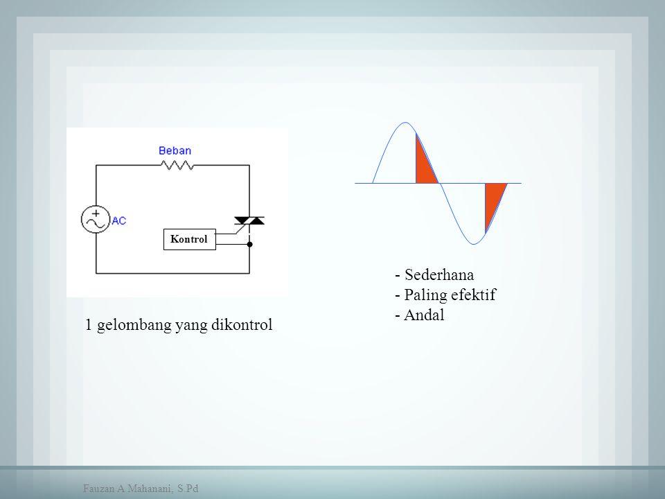 Kontrol 1 gelombang yang dikontrol - Sederhana - Paling efektif - Andal Fauzan A Mahanani, S.Pd