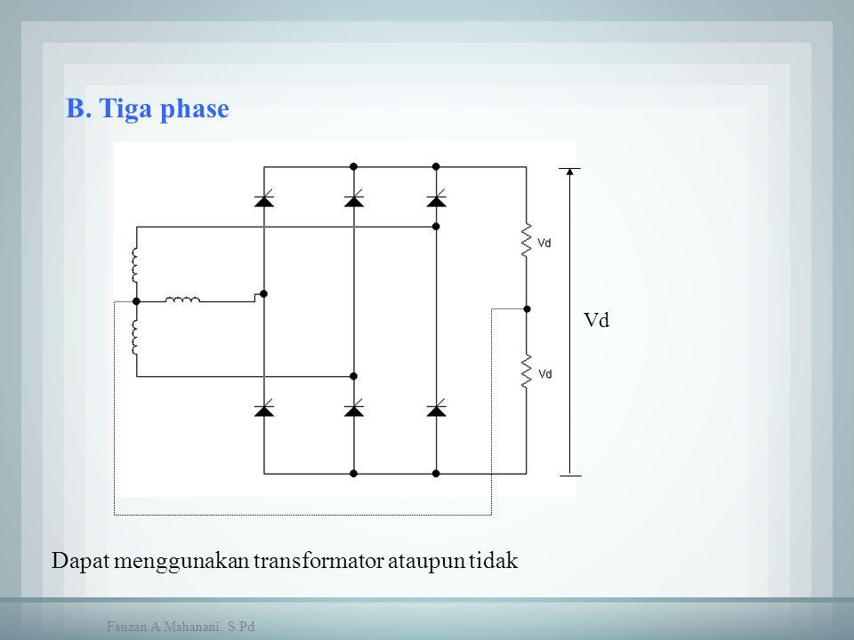 Vd Dapat menggunakan transformator ataupun tidak B. Tiga phase Fauzan A Mahanani, S.Pd