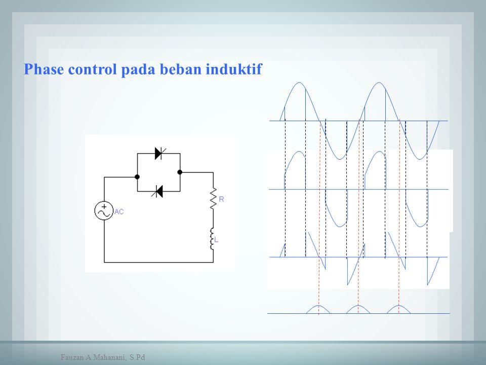 Phase control pada beban induktif Fauzan A Mahanani, S.Pd