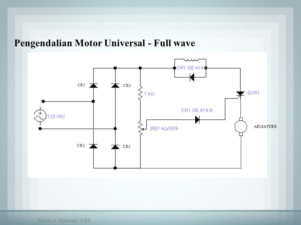 CR2 CR3 CR5 CR4 ARMATURE Pengendalian Motor Universal - Full wave Fauzan A Mahanani, S.Pd