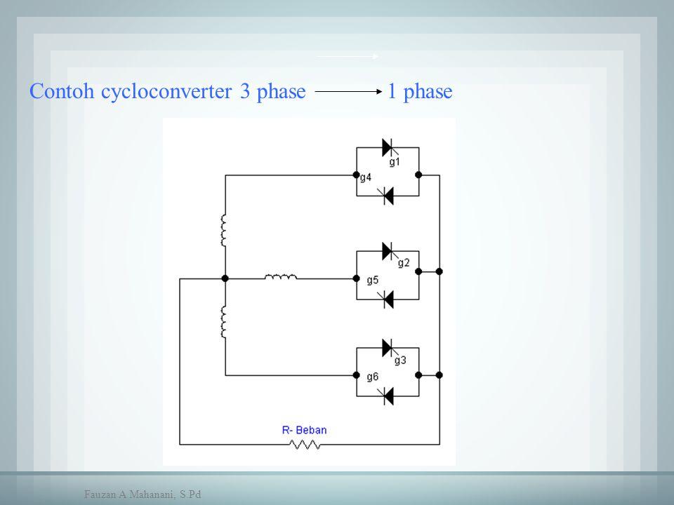 Contoh cycloconverter 3 phase 1 phase Fauzan A Mahanani, S.Pd