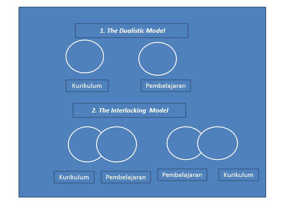 2. The Interlocking Model KurikulumPembelajaran 1. The Dualistic Model KurikulumPembelajaran Kurikulum