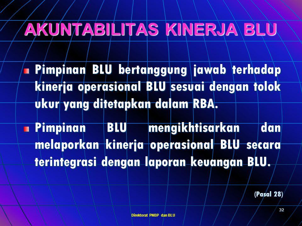 Direktorat PNBP dan BLU 31 AKUNTANSI, PELAPORAN & PERTANGGUNGJAWABAN BLU menerapkan sistem informasi manajemen keuangan sesuai dengan kebutuhan dan pr