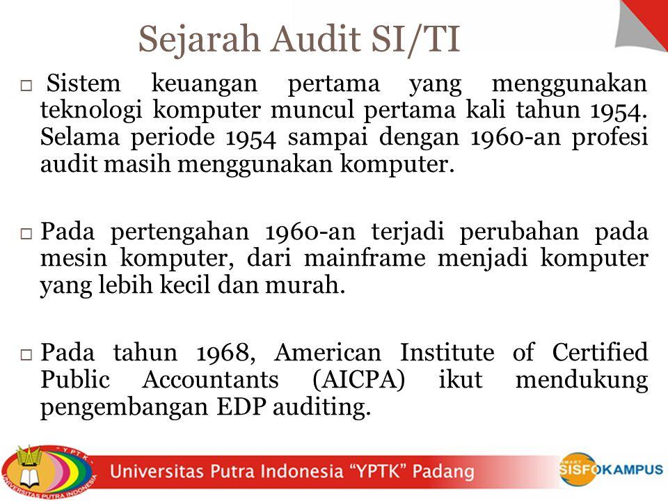  Sistem keuangan pertama yang menggunakan teknologi komputer muncul pertama kali tahun 1954. Selama periode 1954 sampai dengan 1960-an profesi audit