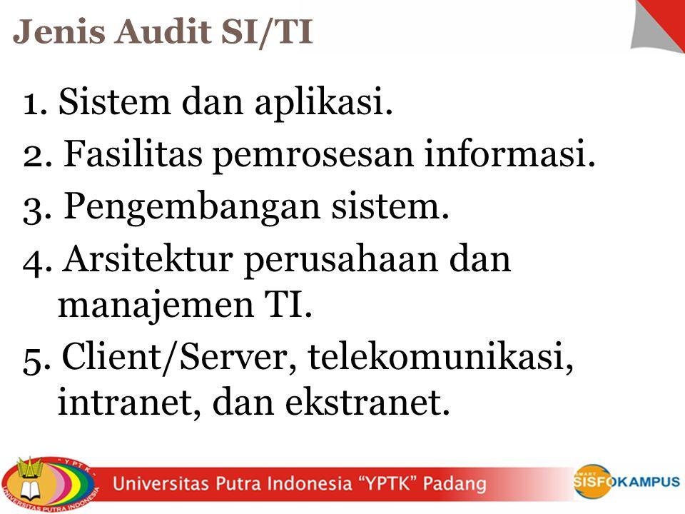 1.Sistem dan aplikasi. 2. Fasilitas pemrosesan informasi.