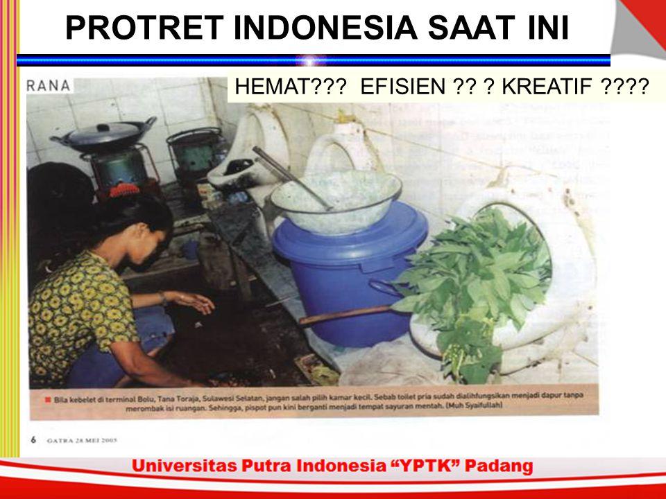 HEMAT??? EFISIEN ?? ? KREATIF ???? PROTRET INDONESIA SAAT INI