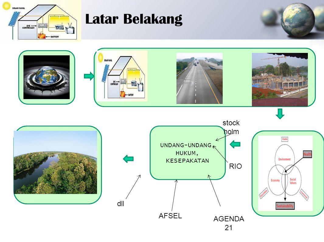 Termasuk didalamnya: -perencanaan penggunaan lahan; - penanganan kesehatan; - habitat; - energi; - manajemen ; -perlindungan tanah; dan - pendidikan,