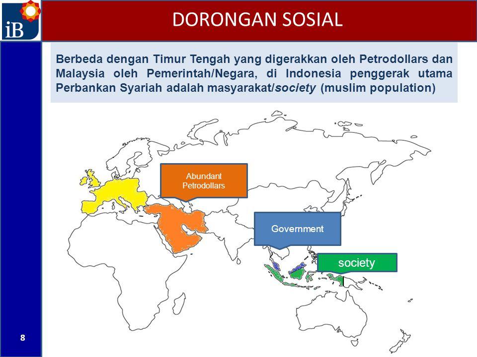 8 Abundant Petrodollars Government society Berbeda dengan Timur Tengah yang digerakkan oleh Petrodollars dan Malaysia oleh Pemerintah/Negara, di Indon