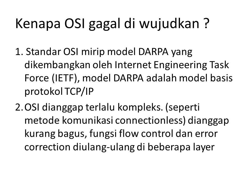 Kenapa OSI gagal di wujudkan .1.