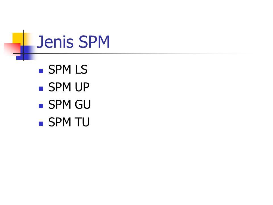 Jenis SPM SPM LS SPM UP SPM GU SPM TU