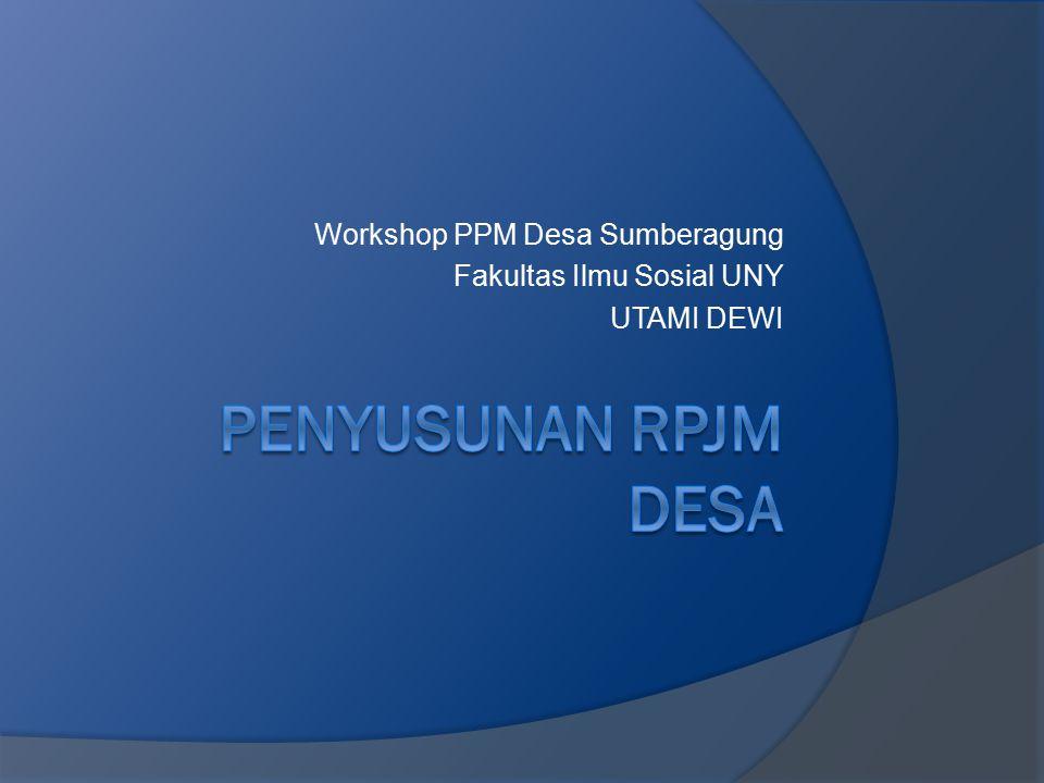 Workshop PPM Desa Sumberagung Fakultas Ilmu Sosial UNY UTAMI DEWI