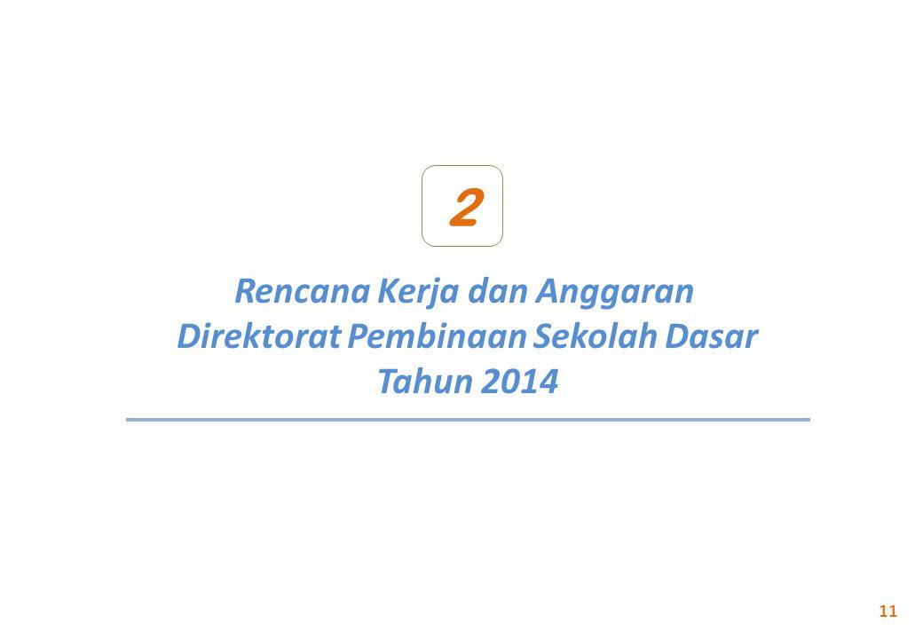 2 Rencana Kerja dan Anggaran Direktorat Pembinaan Sekolah Dasar Tahun 2014 11