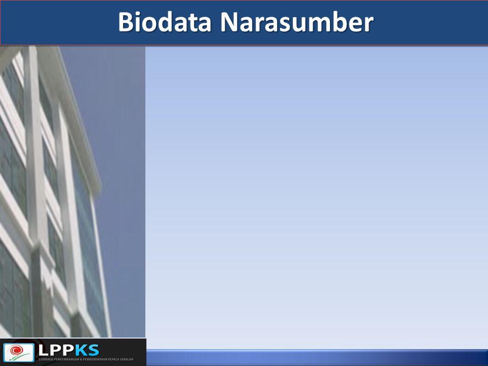 Biodata Narasumber