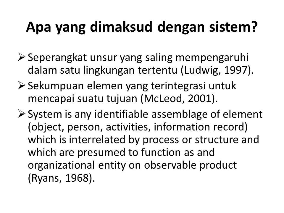 Apa yang dimaksud dengan sistem.