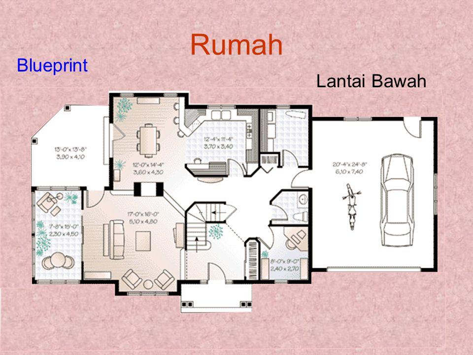 Rumah Lantai Bawah Blueprint