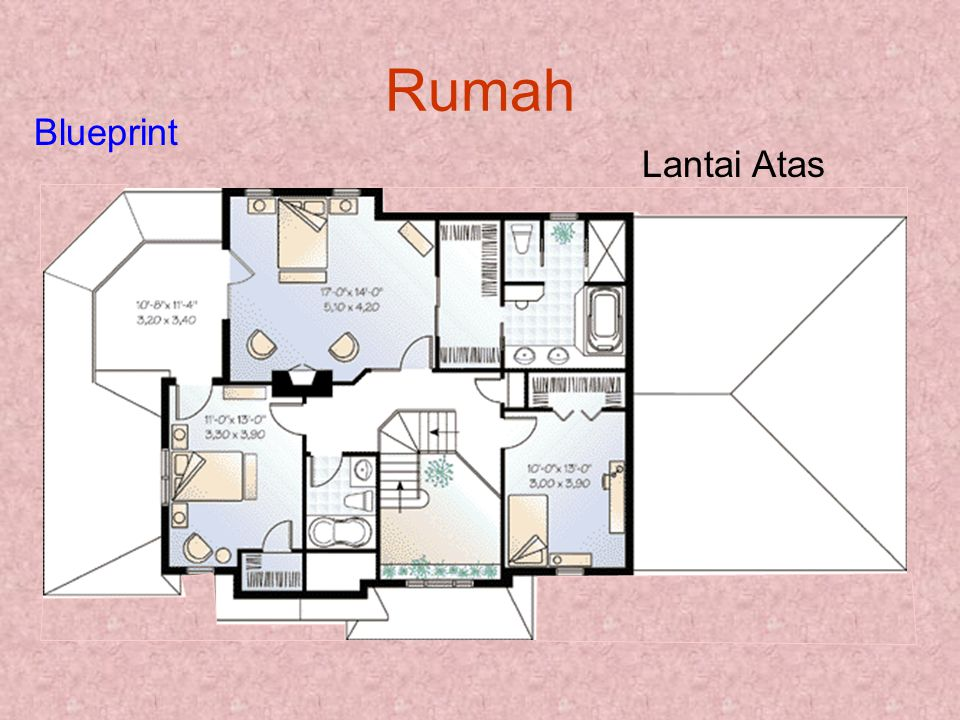Rumah Lantai Atas Blueprint