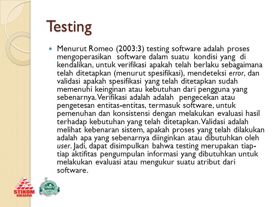 Test Case Menurut Ganesan (2010) tujuan dasar dari penulisan test case adalah untuk melakukan validasi cakupan testing dari sebuah aplikasi.