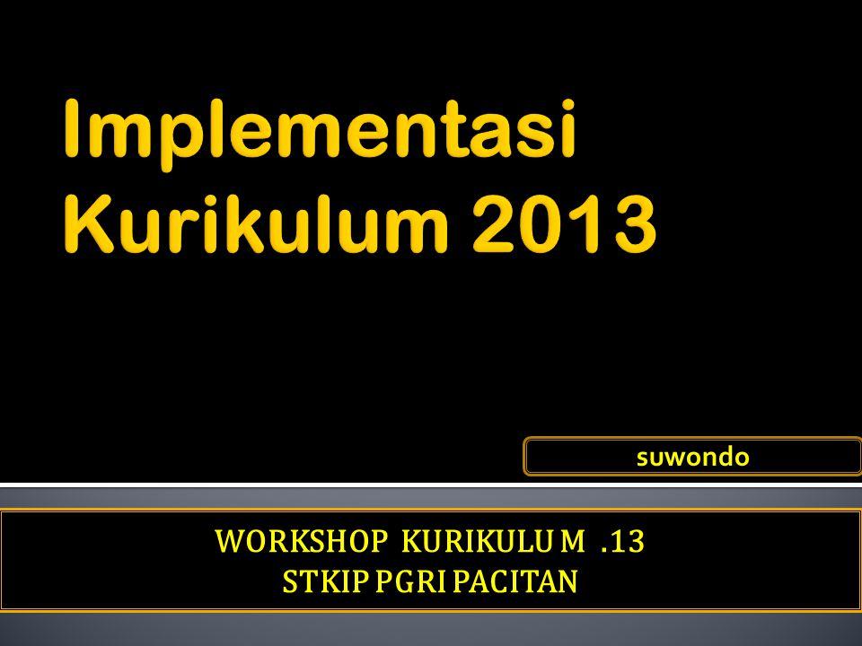 WORKSHOP KURIKULU M.13 STKIP PGRI PACITAN suwondo