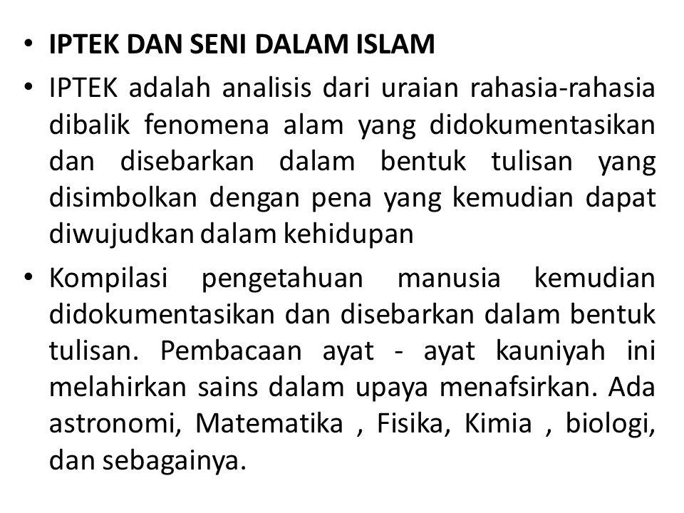 Dari segi esensinya, semua sains sudah islami, sepenuhnya tunduk pada Hukum Allah.