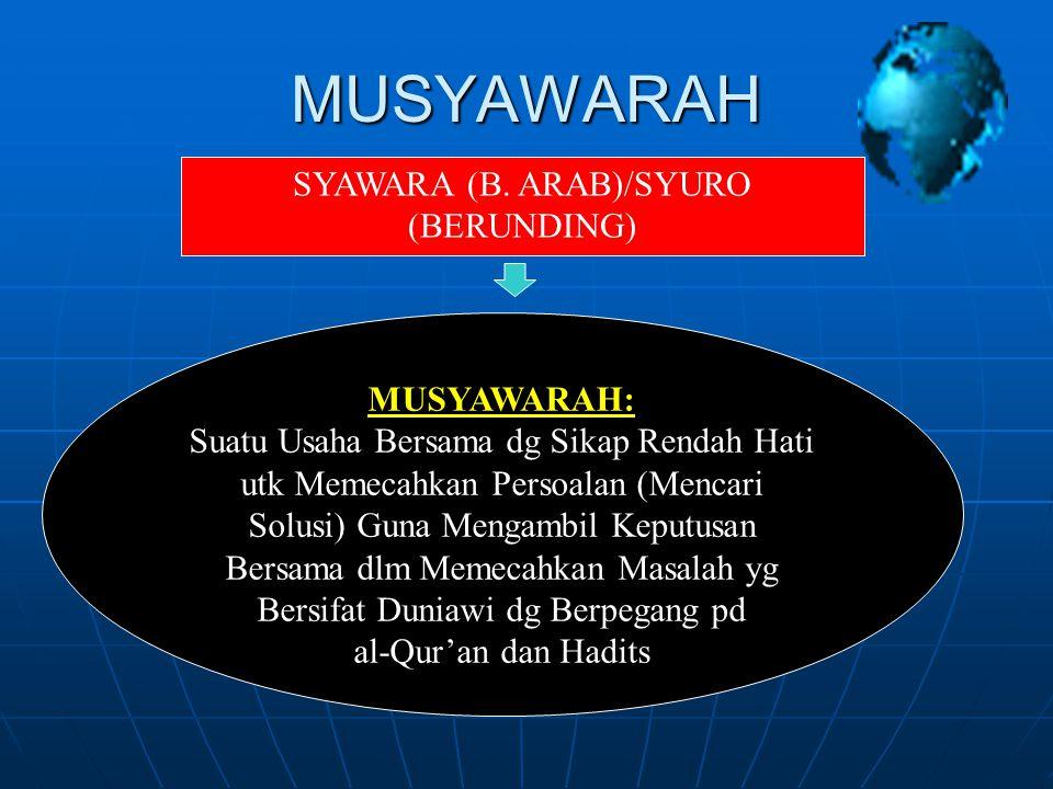 MUSYAWARAH SYAWARA (B.