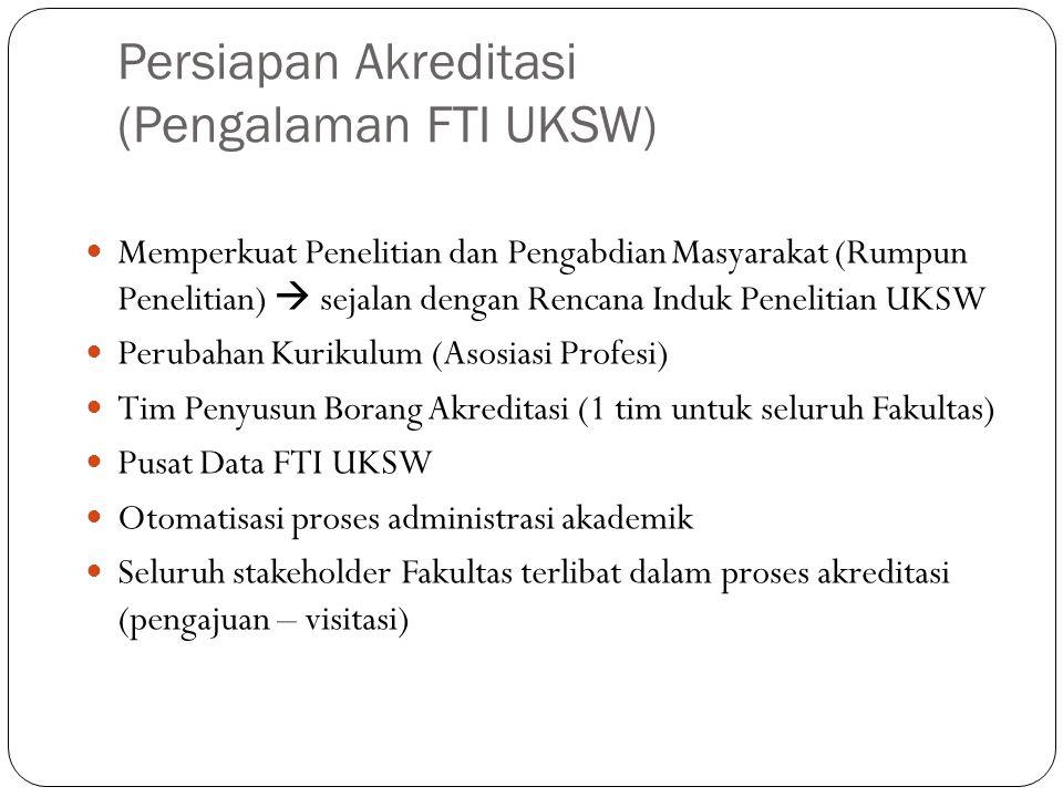 Persiapan Akreditasi (Pengalaman FTI UKSW) Memperkuat Penelitian dan Pengabdian Masyarakat (Rumpun Penelitian)  sejalan dengan Rencana Induk Peneliti