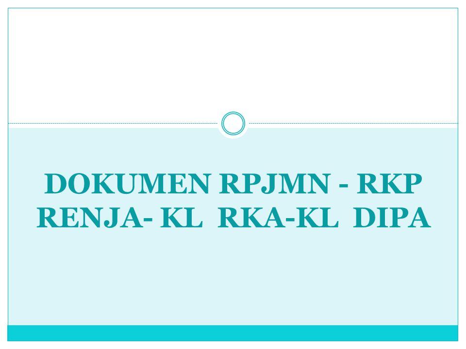 DOKUMEN RPJMN - RKP RENJA- KL RKA-KL DIPA