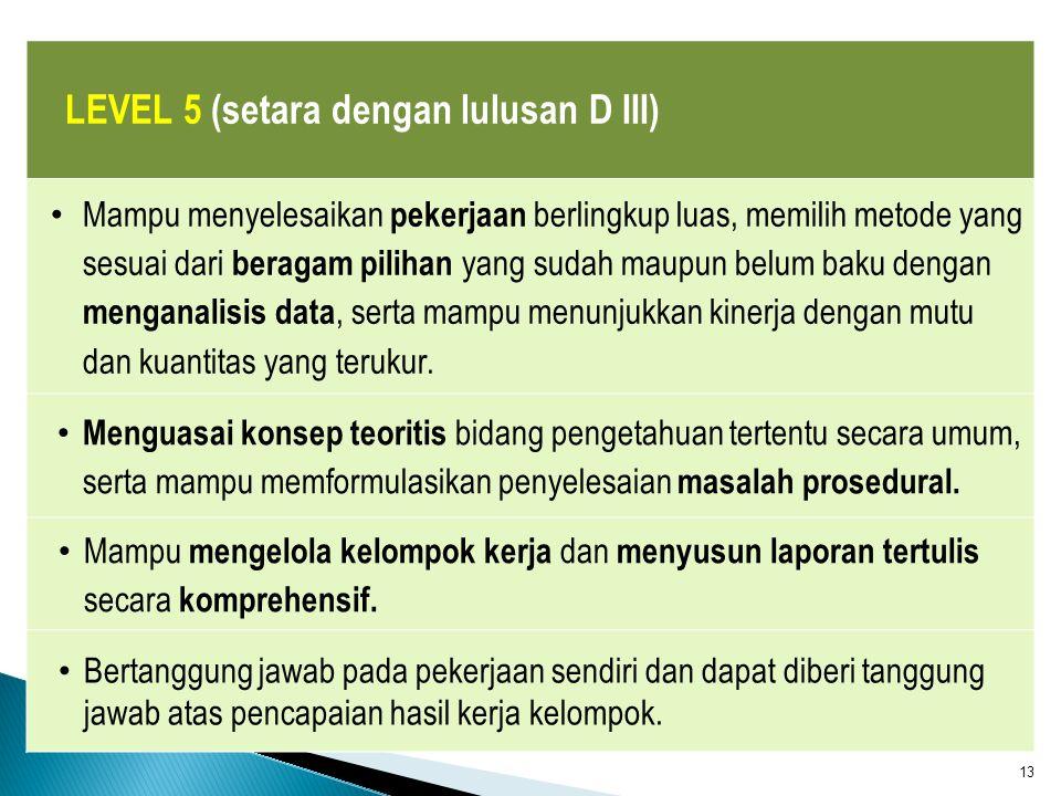 S2 S1 S3 Hubungan level lulusan perguruan tinggi dengan Pasar Kerja KKNI 1 2 3 4 5 7 8 9 6 D I D III D II D IV S2 (Terapan) S3 (Terapan) AHLI TEKNISI