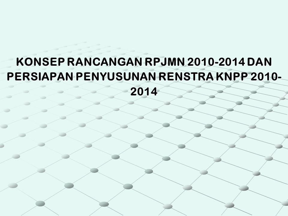 KONSEP RANCANGAN RPJMN 2010-2014 DAN PERSIAPAN PENYUSUNAN RENSTRA KNPP 2010- 2014