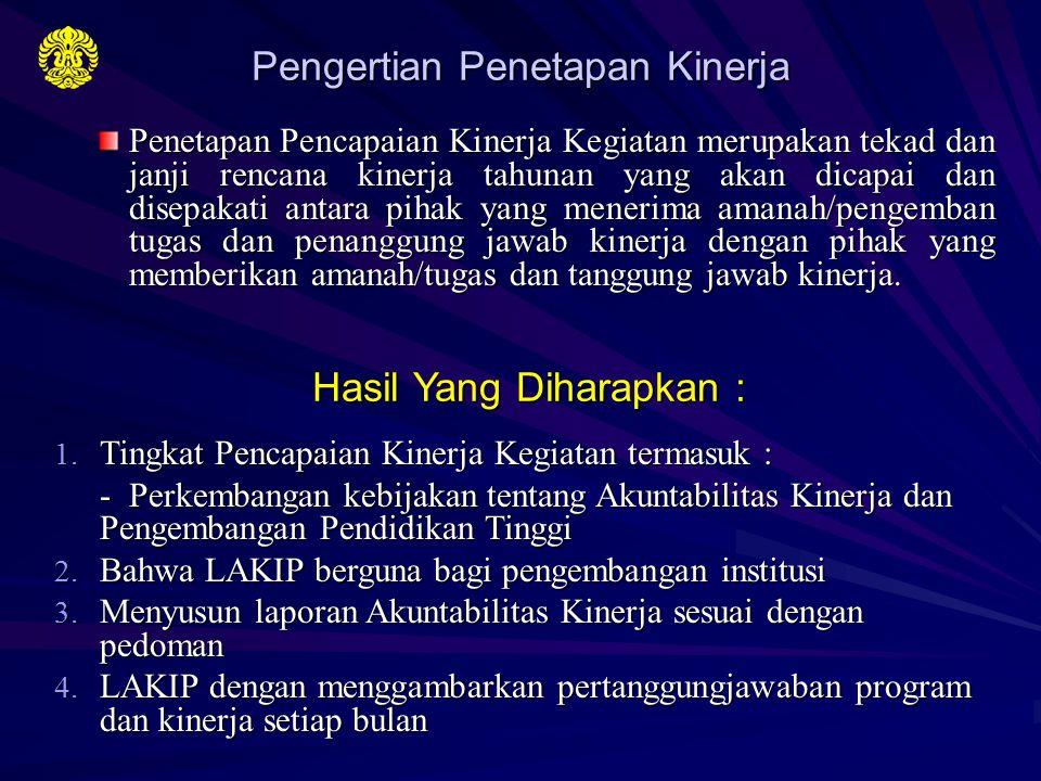 1.Peraturan Menteri Diknas No. 14 Tahun 2006 2. Renstra Diknas 3.