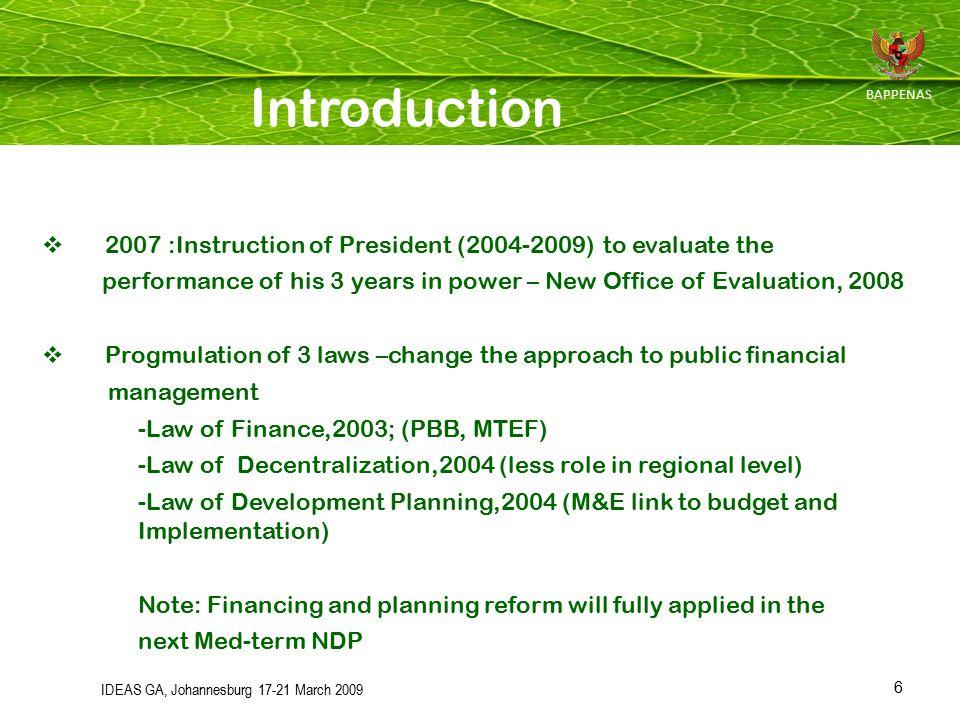 17 Perpres No.7 tahun 2005 tentang RPJMN 2004 - 2009 Inpres No.