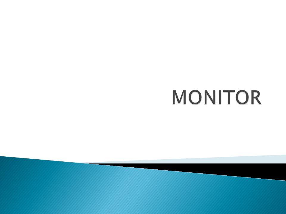  Monitor berfungsi untuk menampilkan data/informasi dalam bentuk teks dan grafik.