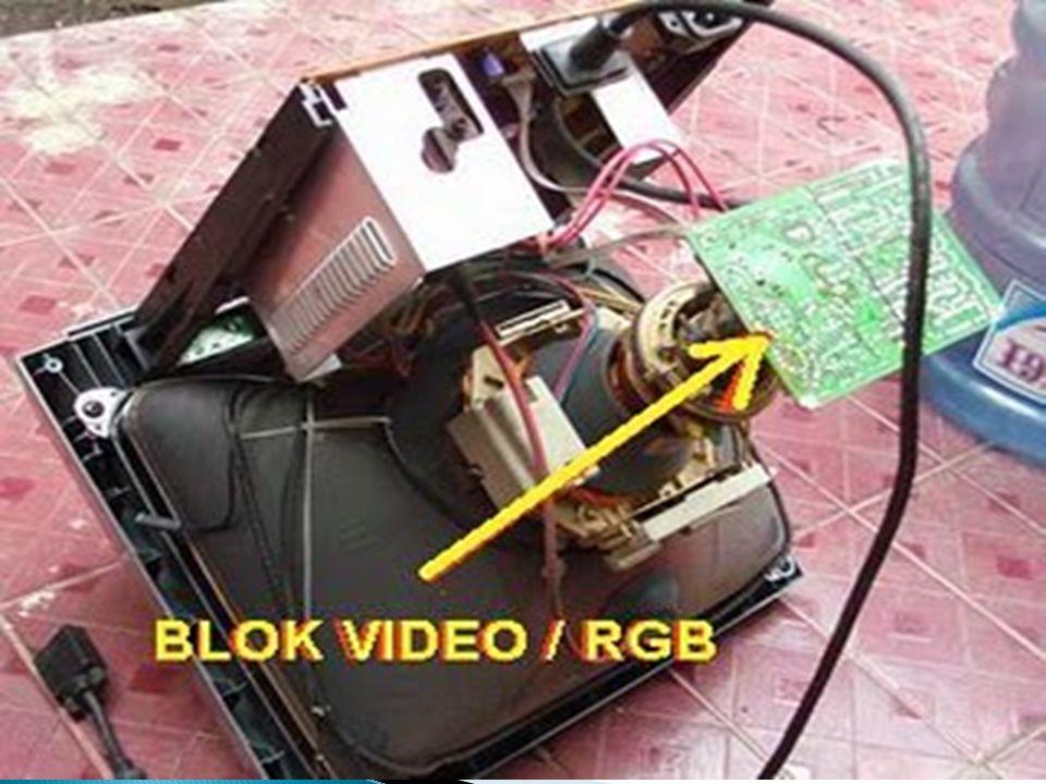  a.Syncrone Input (Horisontal dan Vertikal Syncrone dari VGA Card) oleh IC Sinkron b.