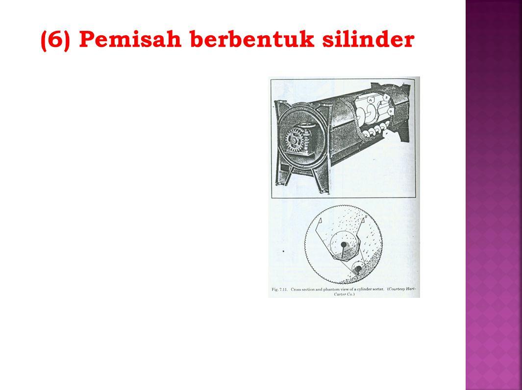 (6) Pemisah berbentuk silinder
