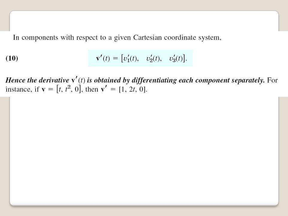 LATIHAN Tentukan vektor satuan tangen (gradien) pada titik (2,4,7) untuk kurva dengan persamaan Parametrik x=2t;y=t 2 +3,z=2t 2 +5 (a) Tentukan persaman vektornya (b) Tentukan harga t dimana hasil vektor pada titik (2,4,7), trial and error dari persamaan Untuk t =1 maka r(1)= 2i+4j+7k ok (c) Tentukan turunan dr/dt= r'(t) r'(t)= 2i+2tj+4tk pada r=t=1 maka r'(t)= 2i+2j+4k (d) Tentukan besaran |r'| (e) Tangen satuan