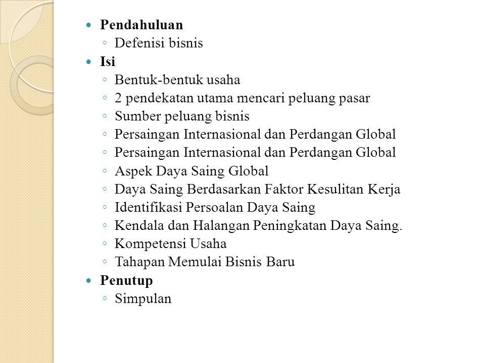 Bisnis Global.Menurut T.