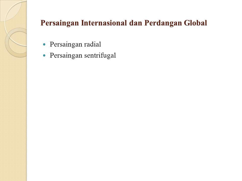 Persaingan Internasional dan Perdangan Global Persaingan radial Persaingan sentrifugal