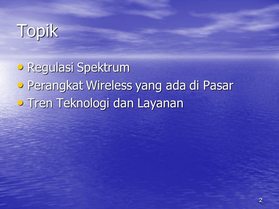 3 I. Regulasi Spektrum Band 2.4 GHz
