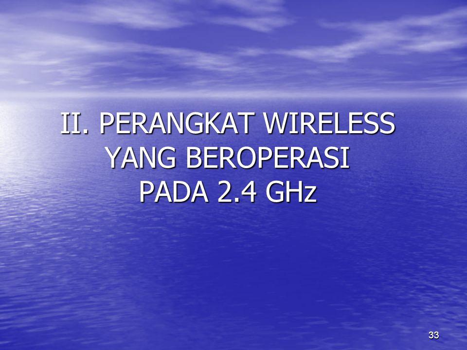 33 II. PERANGKAT WIRELESS YANG BEROPERASI PADA 2.4 GHz