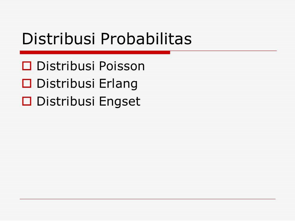 Distribusi Probabilitas  Distribusi Poisson  Distribusi Erlang  Distribusi Engset