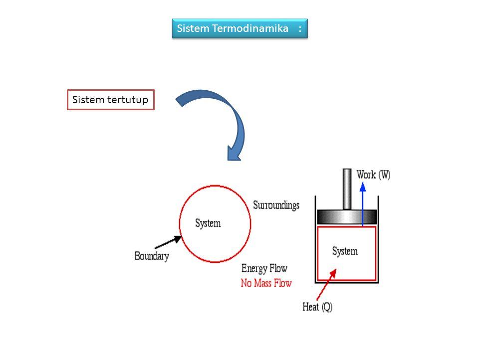 Sistem Termodinamika : Sistem tertutup