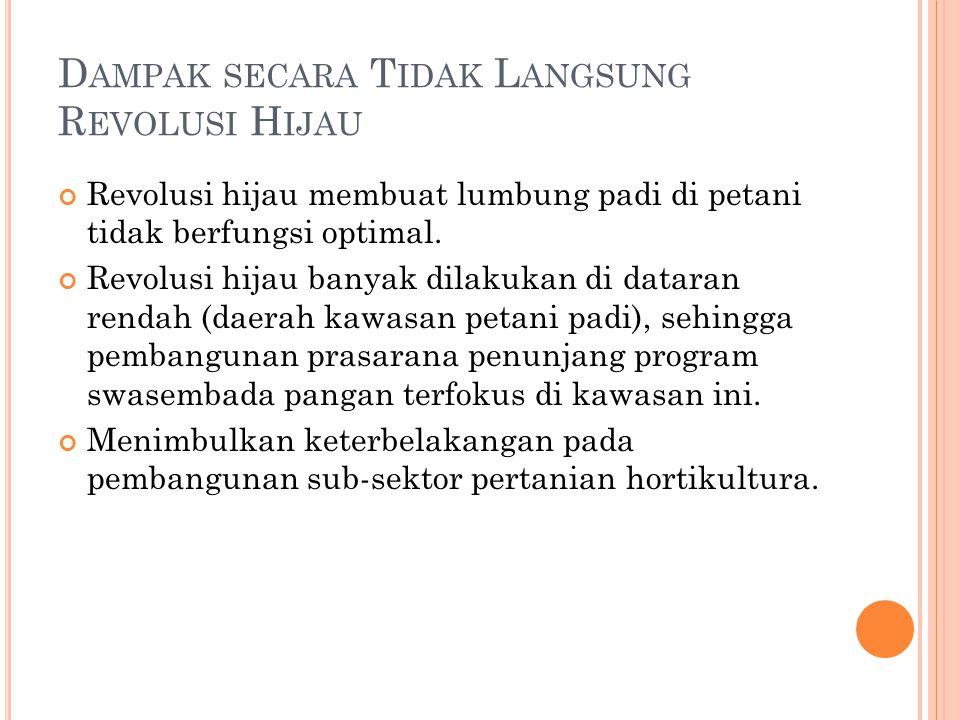 P ERTANIAN I NDONESIA Pertanian Indonesia tidak hanya terdiri atas sub-sektor pertanian dan sub-sektor pangan, tetapi juga sub-sektor perkebunan, sub-sektor peternakan dan sub-sektor perikanan.