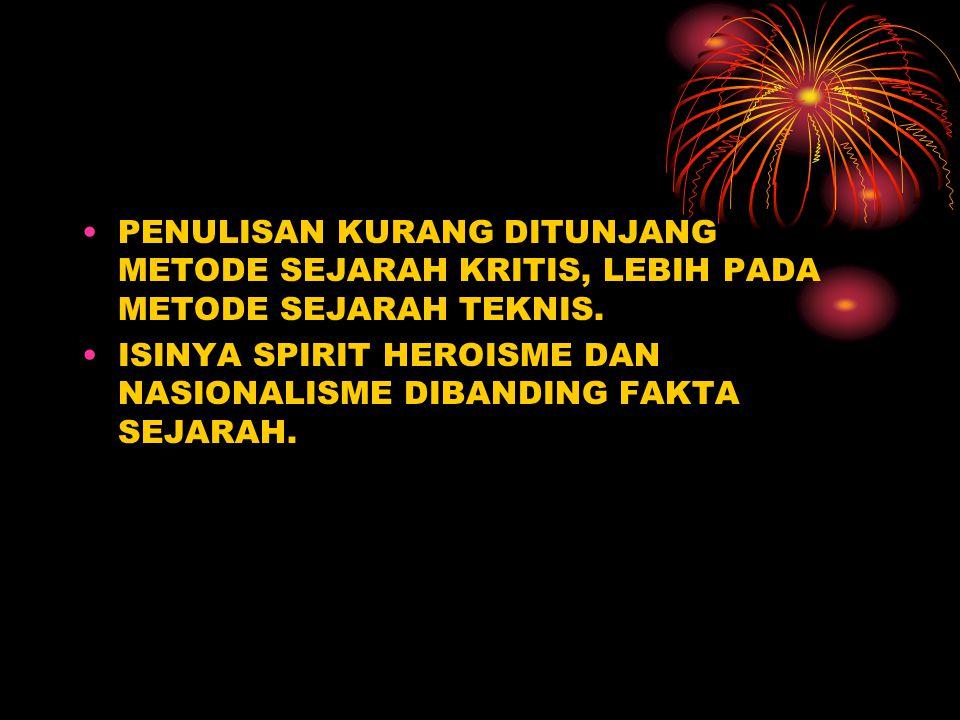 LATAR BELAKANG MUNCUL KARYA YANG BERISI PERLAWANAN TERHADAP PEMERINTAH KOLONIAL (INDONESIA SENTRIS) MERUPAKAN EKSPRESI DAN SEMANGAT NASIONALISME YANG