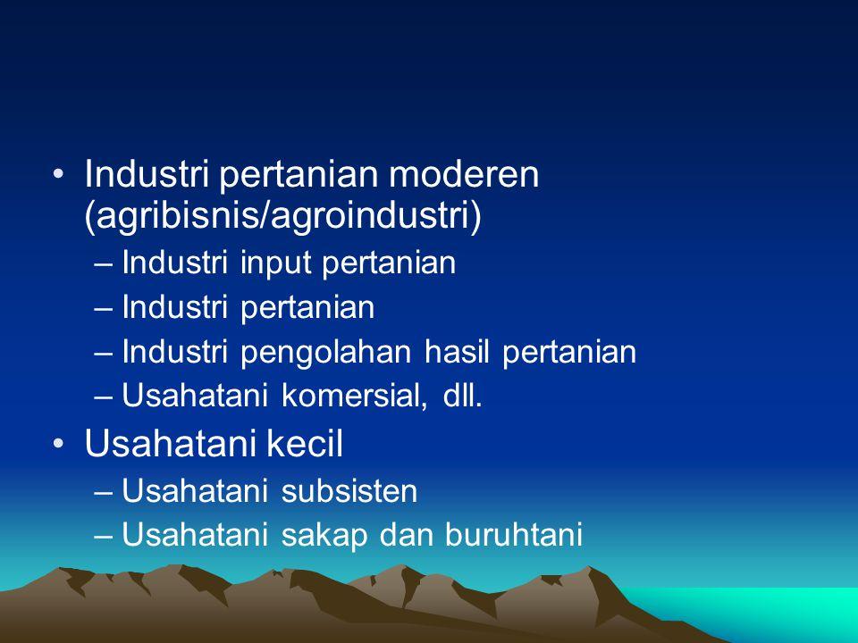 Keberhasilan pembangunan pertanian Menarik untuk menyimak kembali Teori Booke tentang dualisme pembangunan pertanian (agricultural dualism) yakni adanya sektor pertanian moderen (maju) yang berjalan berdampingan dengan sektor pertanian tradisonal (tidak maju).