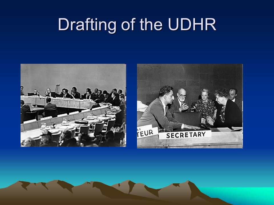 Drafting of the UDHR