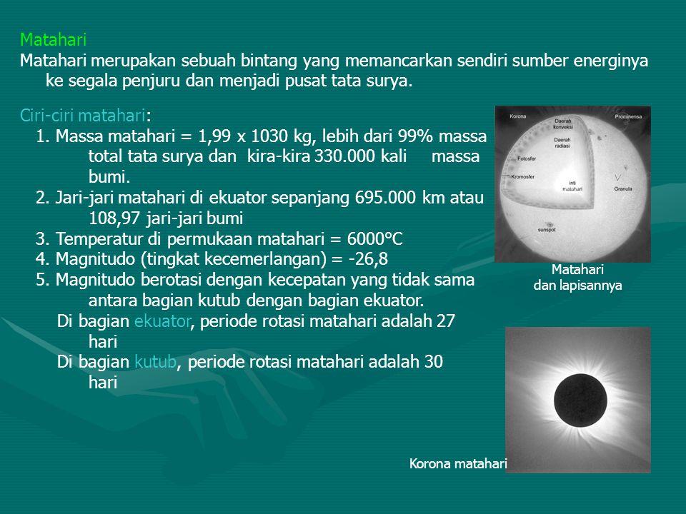 Bulan sebagai Satelit Bumi Peredaran bulan Peredaran bulan terdiri dari 3 gerakan yaitu: 1.Rotasi bulan - Rotasi bulan yaitu bulan berputar pada porosnya.