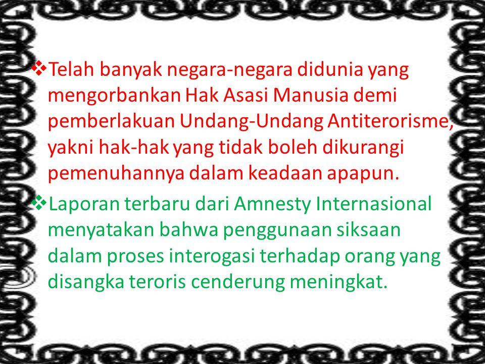 Terorisme adalah serangan-serangan terkoordinasi yang bertujuan membangkitkan perasaan teror terhadap sekelompok masyarakat.