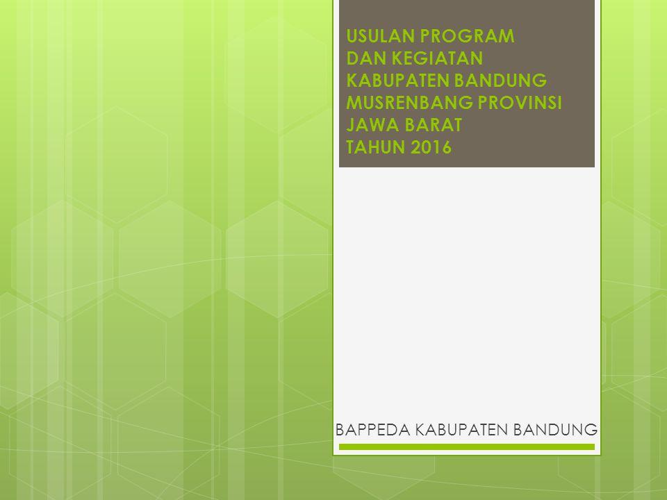  Luas wilayah Kab.Bandung 176.238,67 Ha terdiri dari : 31 kec.