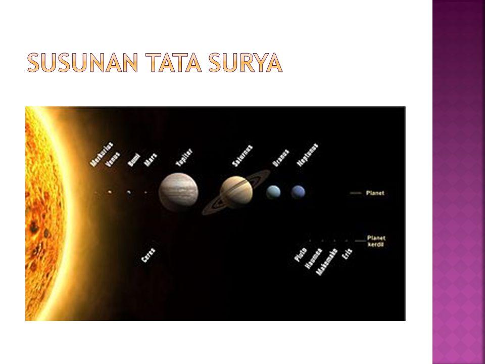  Peredaran benda langit yang berupa planet dan benda langit lainnya dalam mengelilingi matahari disebut revolusi.