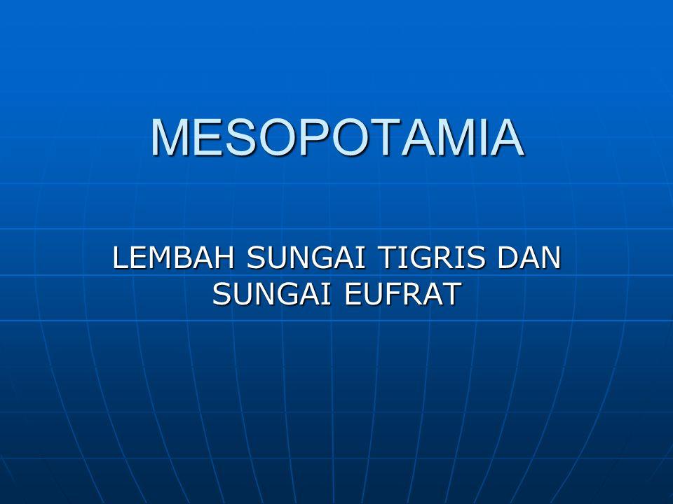 MESOPOTAMIA LEMBAH SUNGAI TIGRIS DAN SUNGAI EUFRAT
