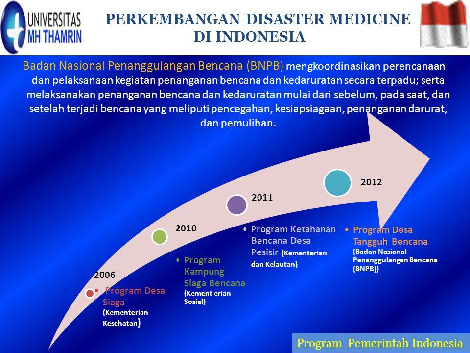 Badan Nasional Penanggulangan Bencana (BNPB ) mengkoordinasikan perencanaan dan pelaksanaan kegiatan penanganan bencana dan kedaruratan secara terpadu